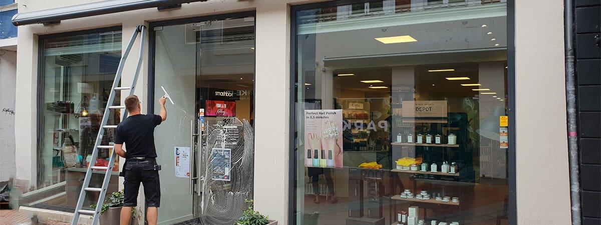 vinduespudsning erhverv - butik i kolding
